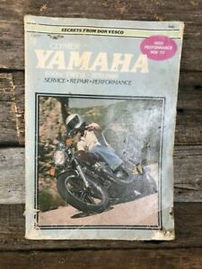 Yamaha Work Shop Repair Manual - 650 Twins - 1970 to 1980 By Clymer