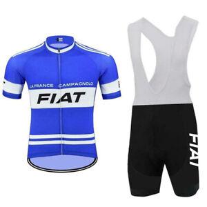 Retro La France Fiat Cycling Jersey And Bib Shorts Sets