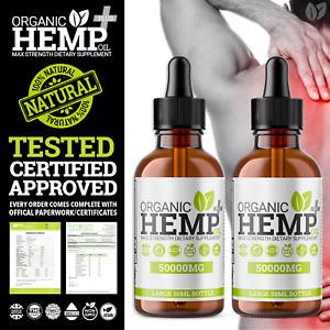 2 x Calming Relief Natural Organic Hemp Oil Plus+ Drops   Hello Supplements