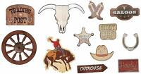 WESTERN WALL CUT-OUTS Cowboy Ranch Hats Boot Decorations Party Room Saloon Bar
