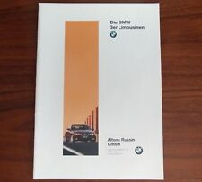 Broschüre Die BMW 3er Limousine 316i 318i 320i 323i 328i 325td tds Deutsche E36