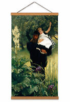 James Tissot The Widower Painting Man Child Garden Canvas Wall Art Print Poster