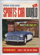 1957 Sports Car World Magazine Porsche Spyder Austin Healey Aston Ferrari Ralt