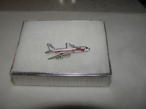 WESTERN AIRLINE 707 AIRPLANE LAPEL TACK PIN LATE 60'S PILOT COLLECTIBLE GIFT!