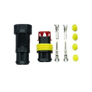 Superseal AMP/Tyco 1 2 3 4 5 6 Way Waterproof 12V Electrical Connectors Kit Pins