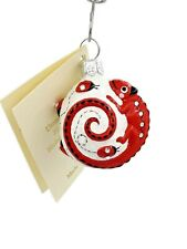 Patricia Breen Springtime Chameleon Red Ladybugs Springtime Holiday Ornament