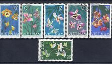 Flowers Used Asian Stamps
