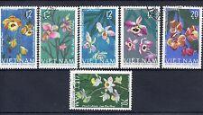 Flowers Used Vietnamese Stamps