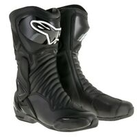 NEW Motorcycle Alpinestars SMX 6 V2 Black Performance Riding Road Boots - AS2223