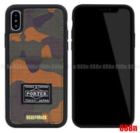 Head Porter Camo Leather Credit Card Slot Pocket Case Cover For Apple iPhone