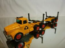 MATCHBOX LESNEY K-10 SCAMMEL CONTRACTOR PIPE TRUCK - YELLOW - GOOD CONDITION