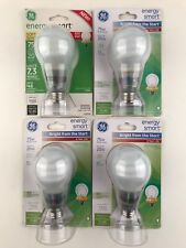 (4) GE Energy Smart Light Bulb Soft White 20W CFL (75W Replacement)