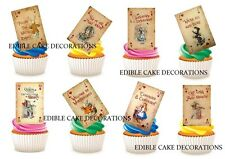25 ALICE IN WONDERLAND PLAYING CARDS Cupcake Topper Edible Decorations Paper
