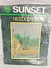 Sunset Needlepoint Kit The Autumn Camp #6485 Brand New in Pkg