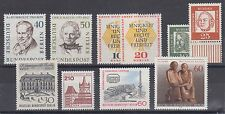 Germany Berlin 9N155/9N454 MNH. 1957-1980 issues, 10 diff, few cplt sets