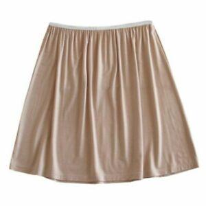 Women Modal Petticoat Skirt Underskirt Half Slip Mini Soft A Line 40/70cm White