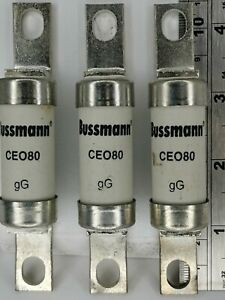 3 xBussmann M-CEO100 100A 500Vac BS88 gG Bolted Tag A4 Standard British Fuse