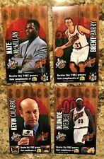 SEATTLE SUPER SONICS 2000-01 SPRITE TEAM ISSUE CARD LOT CALABRO McMillan BARRY