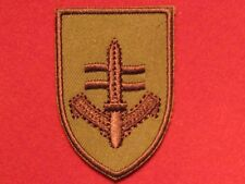 BRITISH ELITE SPECIAL FORCES SBS SPECIAL BOAT SERVICE BADGE BUFF AND TAN NEW