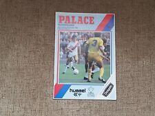 Crystal Palace V Sunderland 1984-1985 Milk Cup 10th October 1984