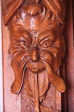 19C Venetian Carved Oak Caryatid/Cherub/Gargoyle/ Demon/Devil/Satyr Clock