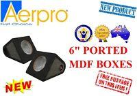 "AERPRO PB602 6"" PORTED BOX CABINET REAR SURFACE MOUNT CAR SPEAKER ENCLOSURE CAR"