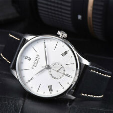 New 42mm Parnis White Dial Roman Numerals Sea Gull Automatic Movement Mens Watch