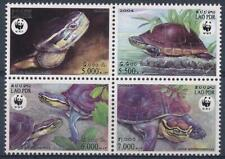 [E14400] Laos 2004 WWF - SNAKE - REPTILE Good set BLOCK of stamps very fine MNH