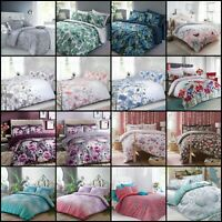 Duvet Cover And Pillowcases Quilt Cover Bedding Set Single Double King All Sizes