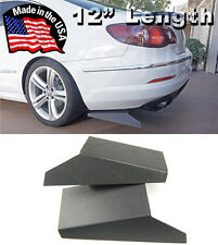 "ABS 12"" Rear Bumper Lip Skirts Apron Splitter Diffuser Valence For Mazda Subaru"
