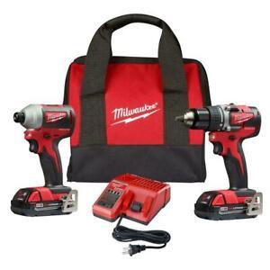 Milwaukee 2892-22CT M18 Brushless Drill Driver/Impact Driver Combo Kit  NEW