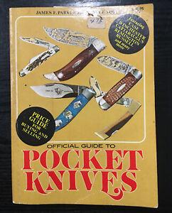Vtg Book Official Guide To Pocket Knives Parker & Voyles