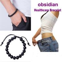 Chic Round Obsidian Stone Healthcare Bracelet Healthcare Weight Loss Bracelet JR