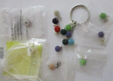 rhinestone charms crystal colorful craft jewelry making supplies zipper pull