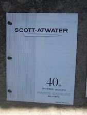 Scott Atwater Outboard 40 HP Super Scott Bail-A-Matic Parts Catalog 1336 3685  U
