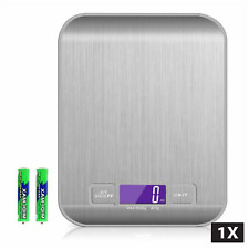 1x/2x LCD Stainless Kitchen Cooking Food Electronic Digital Scale Weight 5kg 1g
