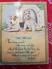 Vintage Wall Plaque Scottie Scotty Scotland Scottish Terriers Poem 1920s