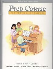 Alfred's Basic Piano Young Beginner Prep Course Lesson F Book Triads Ostinato