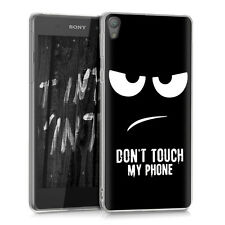 Kwmobile Crystal case para Sony Xperia e5 Don 't Touch My Phone imd Design cover