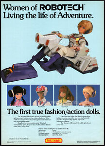 Women of ROBOTECH__Original 1986 Trade Print AD / poster__MATCHBOX__Action Dolls