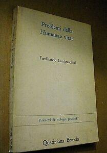 Ferdinando Lambruschini PROBLEMI DELLA HUMANAE VITAE / Queriniana 1968