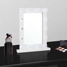 NUOVO vanità specchio HOLLYWOOD 14 Lampadina Led cornice bianca Specchio Per Tavolo Da Toeletta Trucco