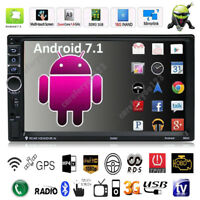 """Quad Core Android 7.1 3G WiFi 7"""" Double 2DIN Autoradio Bluetooth Stereo MP5 GPS"""