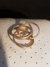 Bague or 18 Carats  3 ors Anneaux Entrelacés 4,2 gr  T51-52   Gold ring 18 k