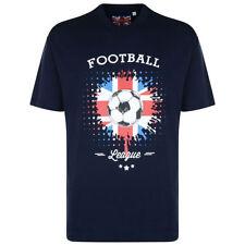 Camisetas de hombre azul 100% algodón talla XL