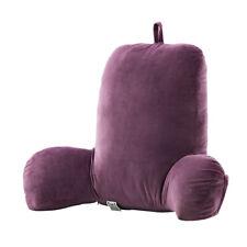 Back Rest Custion Hollow Cotton Backrest Cushion Bolster Reading Pillow Purple