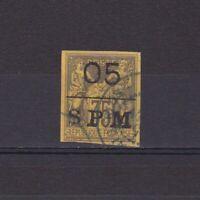 ST PIERRE & MIQUELON 1885, Sc# 4, CV $110, Used