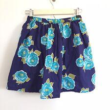 Lands End Kids Blue Floral Patterned Skirt