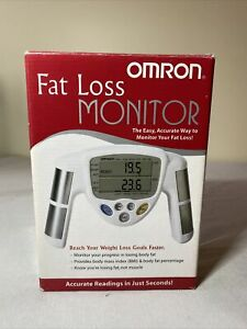 OMRON HBF-306C Handheld Fat Loss Monitor W/ Manual - White - Excellent Condition
