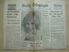 VINTAGE NEWSPAPER DAILY TELEGRAPH FEBRUARY 14th 1984 LADY DIANA EXPECTING CHILD